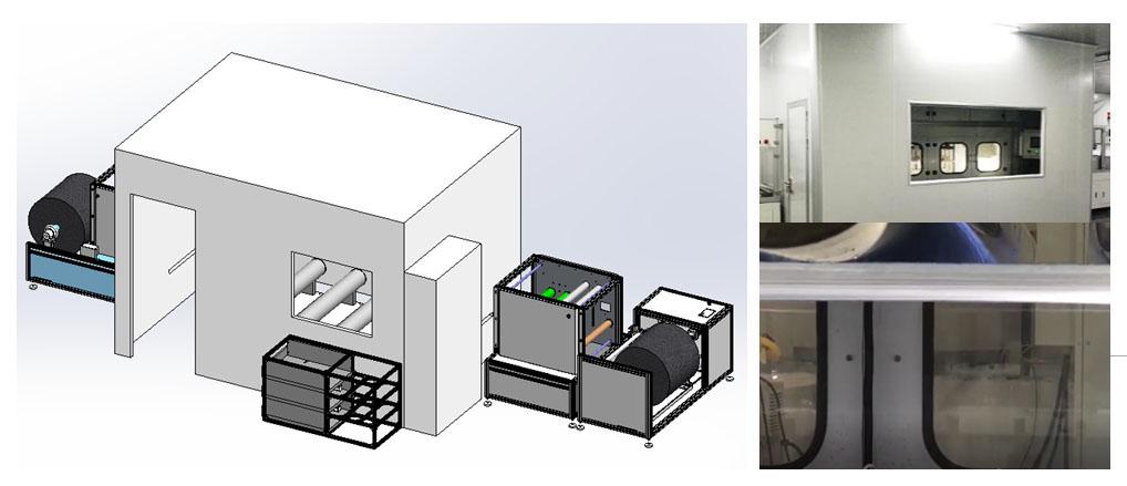 我工厂生产的设备,可生产纳米纤维膜替代熔喷布材料